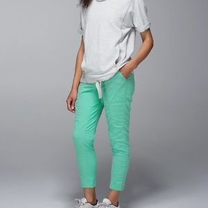 Lululemon mint green jogger pant